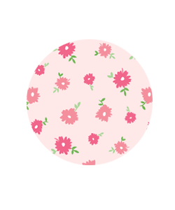baby girl pink flowers pima cotton