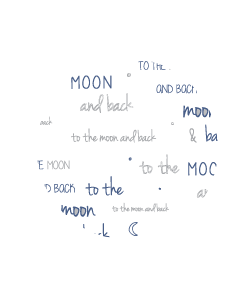 Moon Back Blue