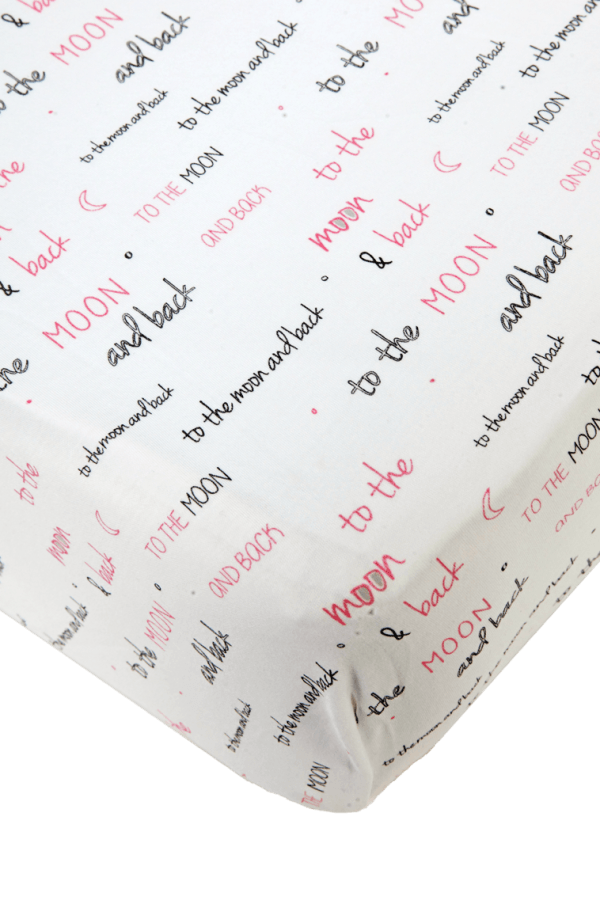 White Pink Girl Crib Sheet