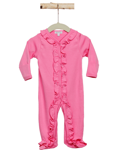 One piece Pajama Girl Ruffles