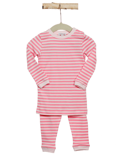 girl pink stripes pajama