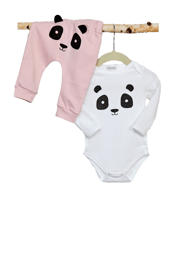 Baby Noomie - Pima Cotton - clothing - girls - boys - baby clothing - baby girl set panda