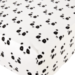 Baby Noomie - Pima Cotton - clothing - girls - boys - baby clothing - panda fitted crib sheet