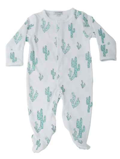 Green Cactus Baby Noomie Pima Cotton Clothing For