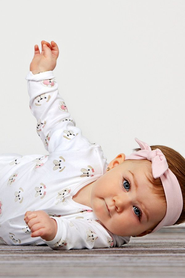Baby Noomie - Pima Cotton - clothing - girls - boys - baby clothing - girl cotton footie dog