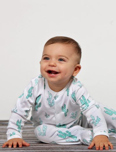 Baby Noomie - Pima Cotton - clothing - girls - boys - baby clothing - baby boy cactus footie