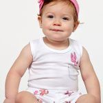 Baby Noomie - Pima Cotton - clothing - girls - boys - baby clothing - baby girl onesie short set cactus