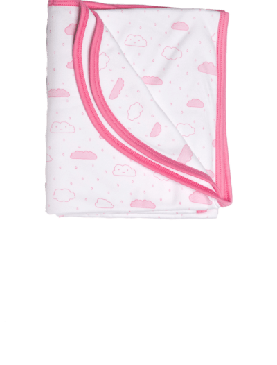 Baby Noomie - Pima Cotton - clothing - girls - boys - baby clothing - Baby Girl clouds blanket