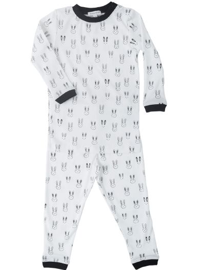 Baby Noomie - Pima Cotton - clothing - girls - boys - baby clothing - black white pajamas cotton pima