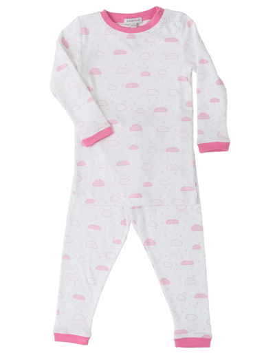 pink white pajama girl