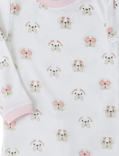 Baby Noomie - Pima Cotton - clothing - girls - boys - baby clothing - girl pajama bulldog