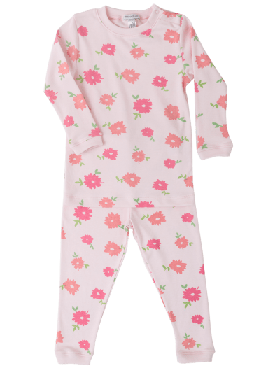 Baby Noomie - Pima Cotton - clothing - girls - boys - baby clothing - pink flowers pajama
