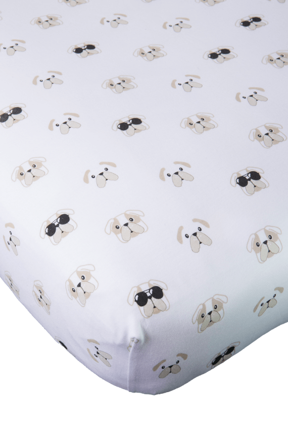 dog crib sheet pima cotton