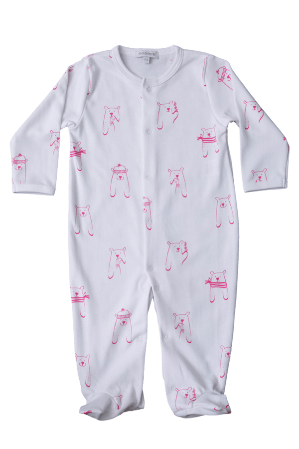 pima cotton pink bears pajamas