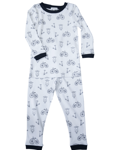 baby boy pajamas, bicycle