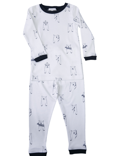 bear pajama, boy pajama, pima cotton pajama