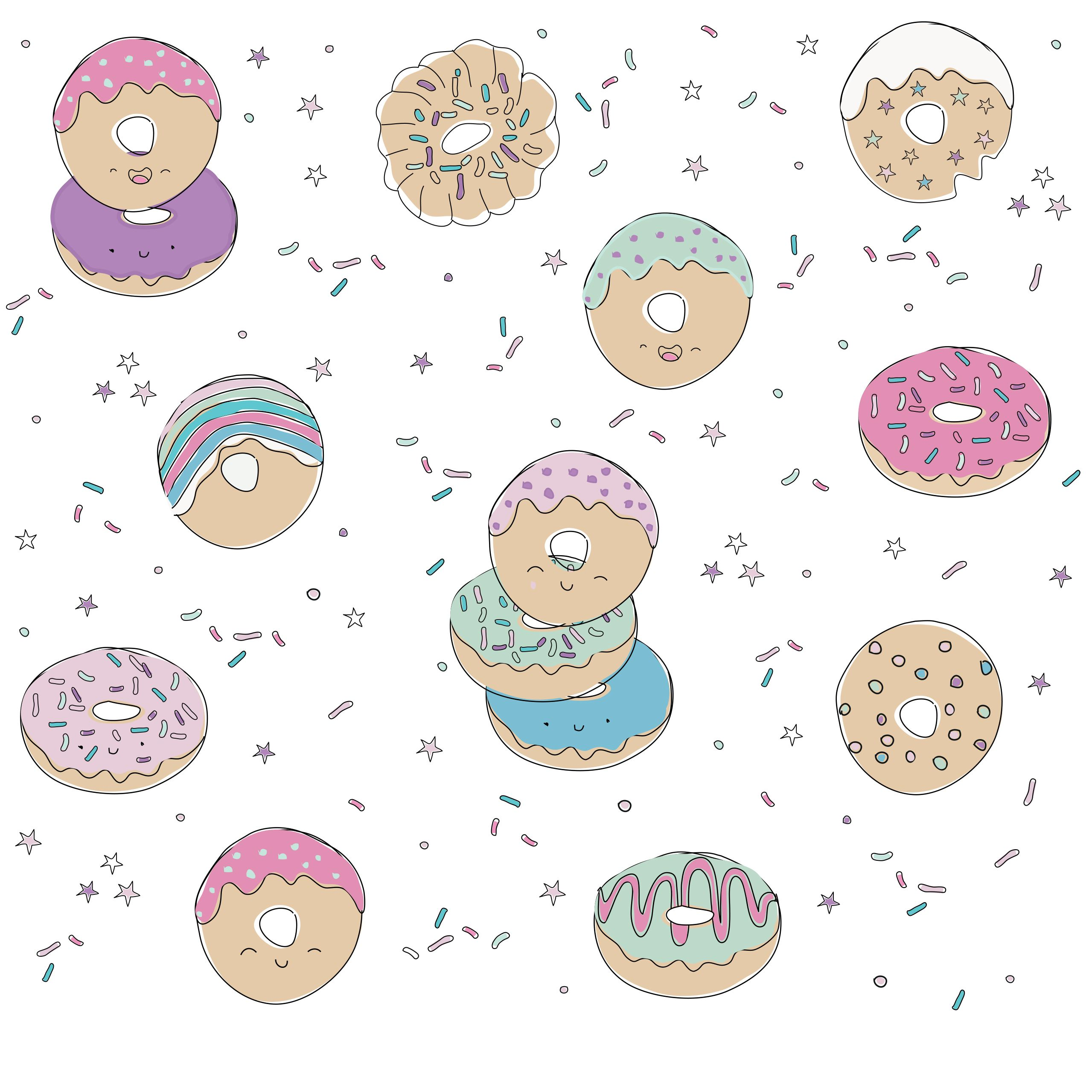 NEW Donuts Print: For The Sweetest Girls In Town!